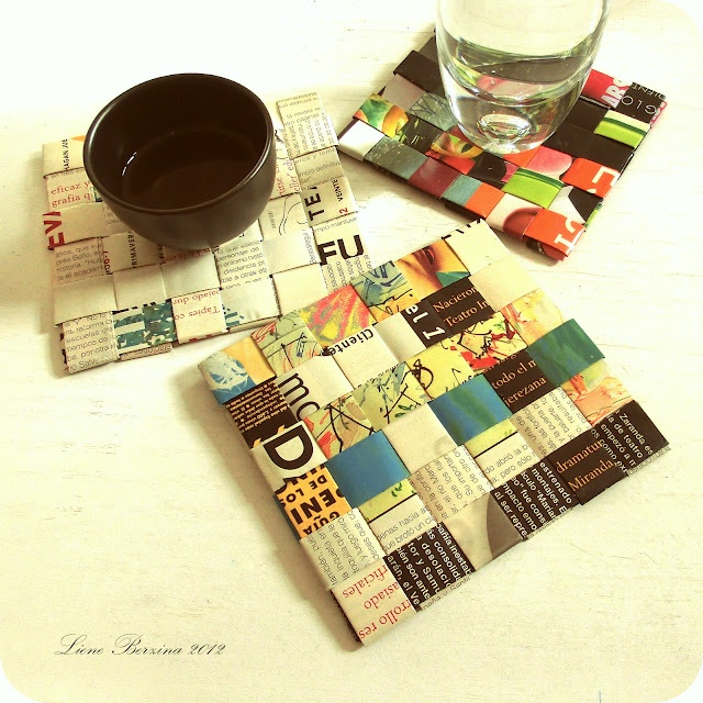 11 best diy recycle paper coasters images on pinterest for How to recycle old magazines