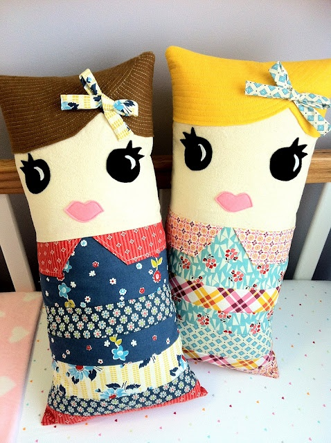 Sweet Mary: Polly & Pippa the Pillow Dolls
