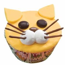 Frisky Feline cupcake by Wilton's. Looks tasty and good for a kids party.