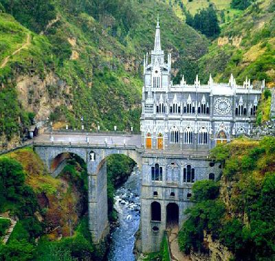Las Lajas Cathedral in Colombia #Cathedral #Colombia