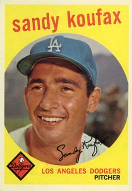 baseball cards  koufax | ... set name 1959 topps card size 2 1 2 x 3 1 2 number of cards in set 583