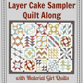 Great blocks for 10 inch layer cakes.  Material Girl Quilts