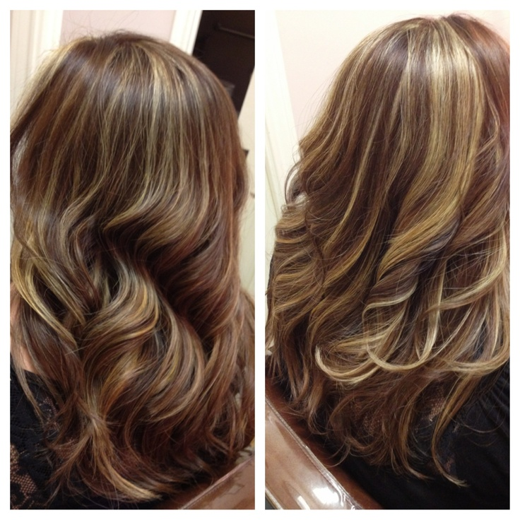 Bold Highlights/ Copper / Long Layer Haircut