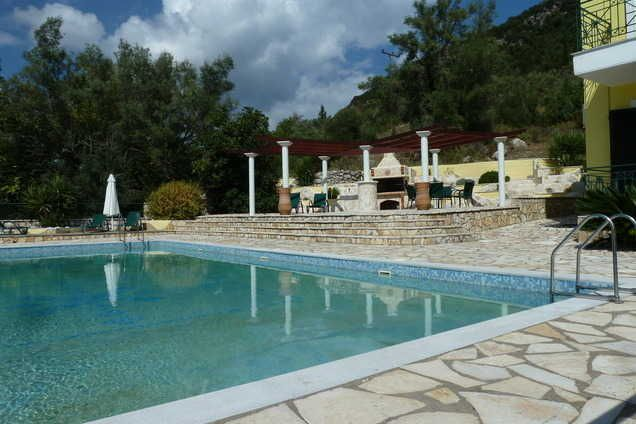 Pool, BBQ & dining area, with landscaped herb & flower gardens!