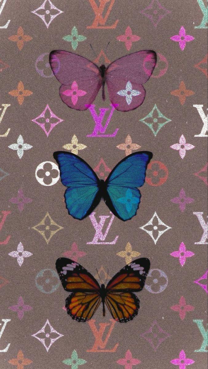 Louis Vuitton Butterfly Wallpaper in 2020 Butterfly