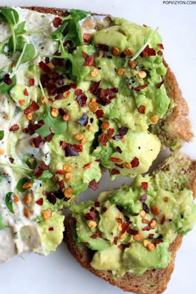 Avocado On Toast with Chilli Flakes and Cress | Popvizyon.com