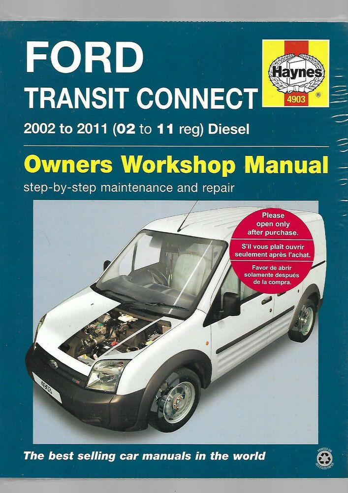 Haynes New Sealed Ford Transit Connect Turbo Diesel 1 8l Owners
