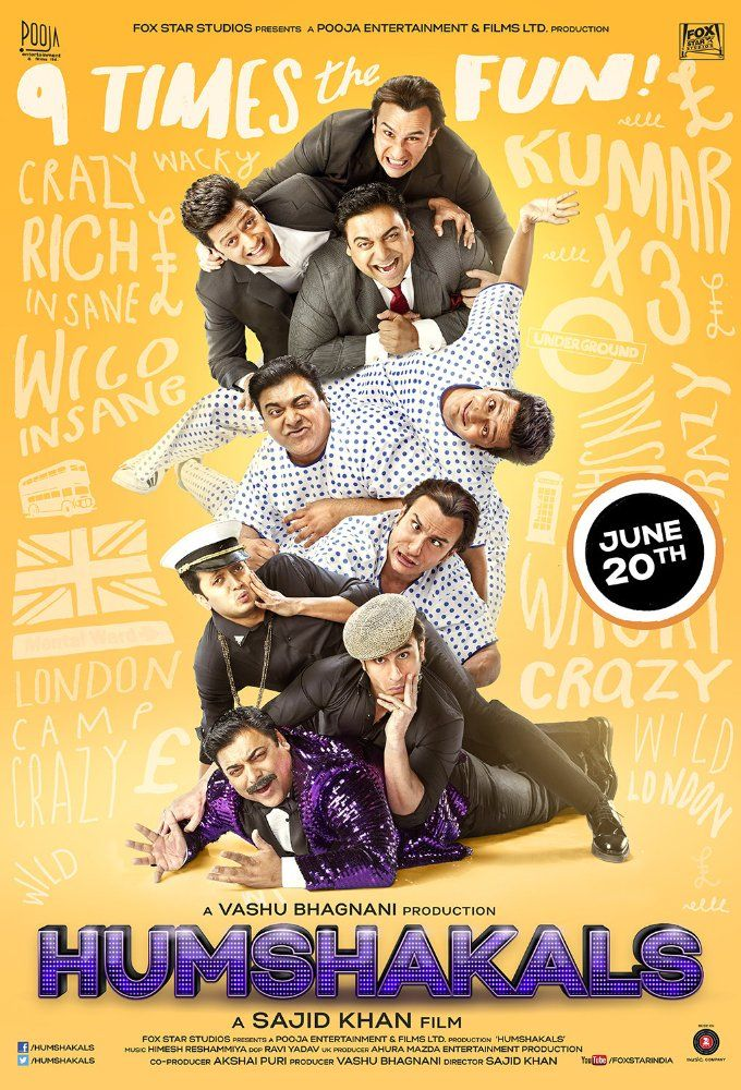 Watch Humshakals (2014) Full Movie Online DVDRip/720p/1080p - WRmovies.net