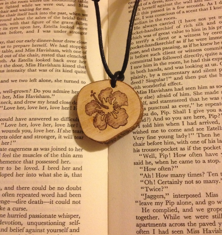 Unique Woodburned Flower Pendant by FireWoodCrafts on Etsy, €9.00