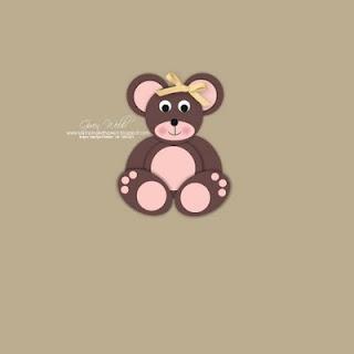 Punch Art teddy bear