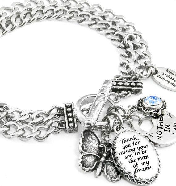 Mother of the Groom Bracelet Wedding Bracelet by BlackberryDesigns