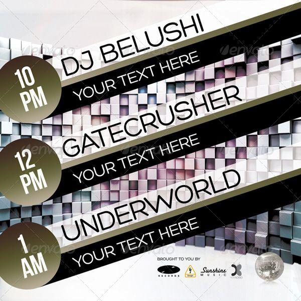 Club Party Flyer • Disco Lounge Club