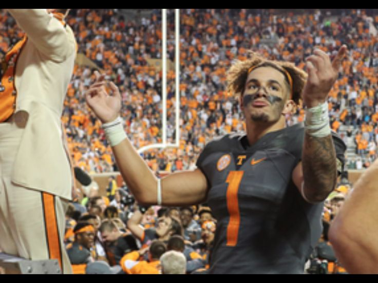 Jalen Hurd leads the pride of southland in celebration of UTs victory over Georgia