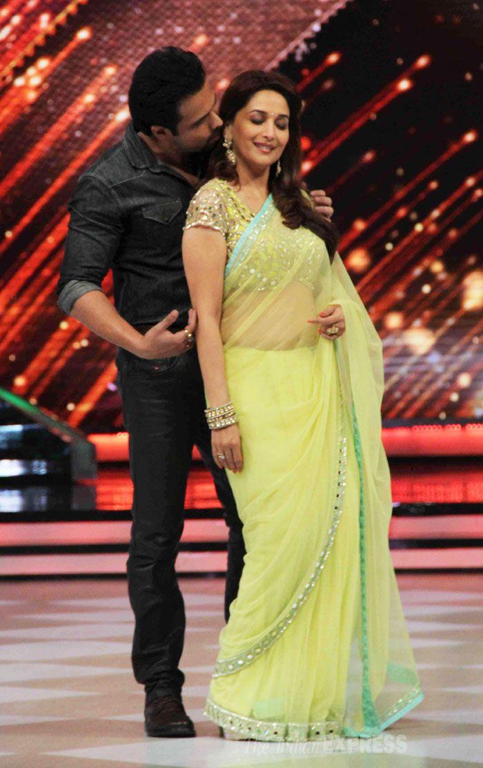 Emraan Hashmi woos dancing diva Madhuri Dixit on 'Jhalak Dikhhla Jaa'. #Bollywood #Fashion #Style #Beauty