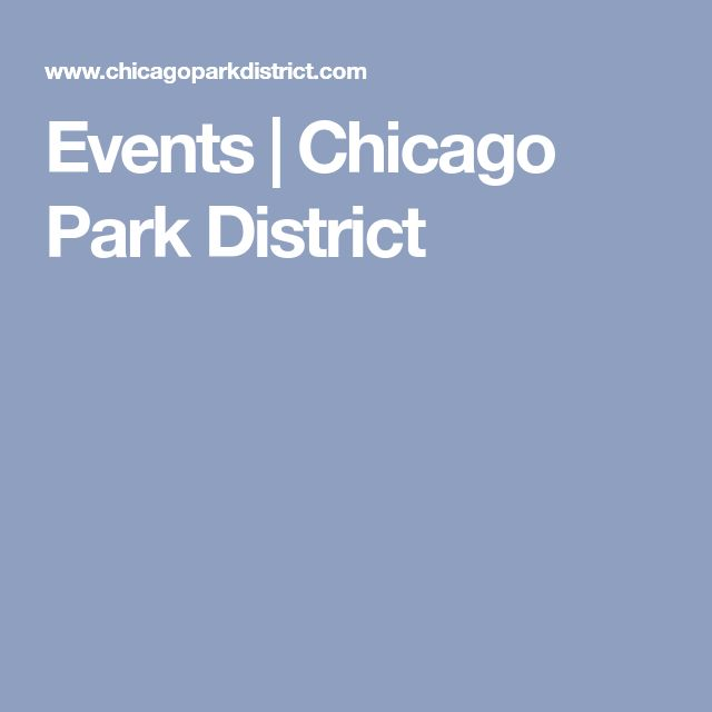 Events | Chicago Park District