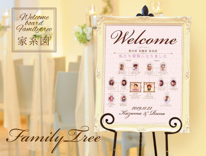 家系図ウェルカムボード/ファミリーツリー結婚式/ウェルカムボード http://www.farbeco.jp/welcome.html