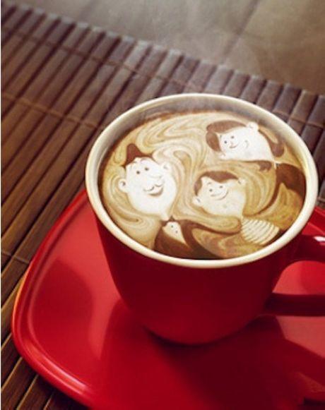 Warm coffee.....awwwwww cuteness! I love Barist art!
