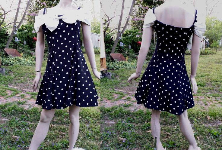 Off Shoulder Polka Dot Prom Dress/ 80s Dress /80s Prom Dress/ 80s Party Dress/ Vintage Dress in Black & White by By Choice Dress US Size 8 by gottagovintage1 on Etsy