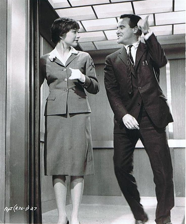 "Shirley MacLaine and Jack Lemmon in ""The Apartment"" (1960)"