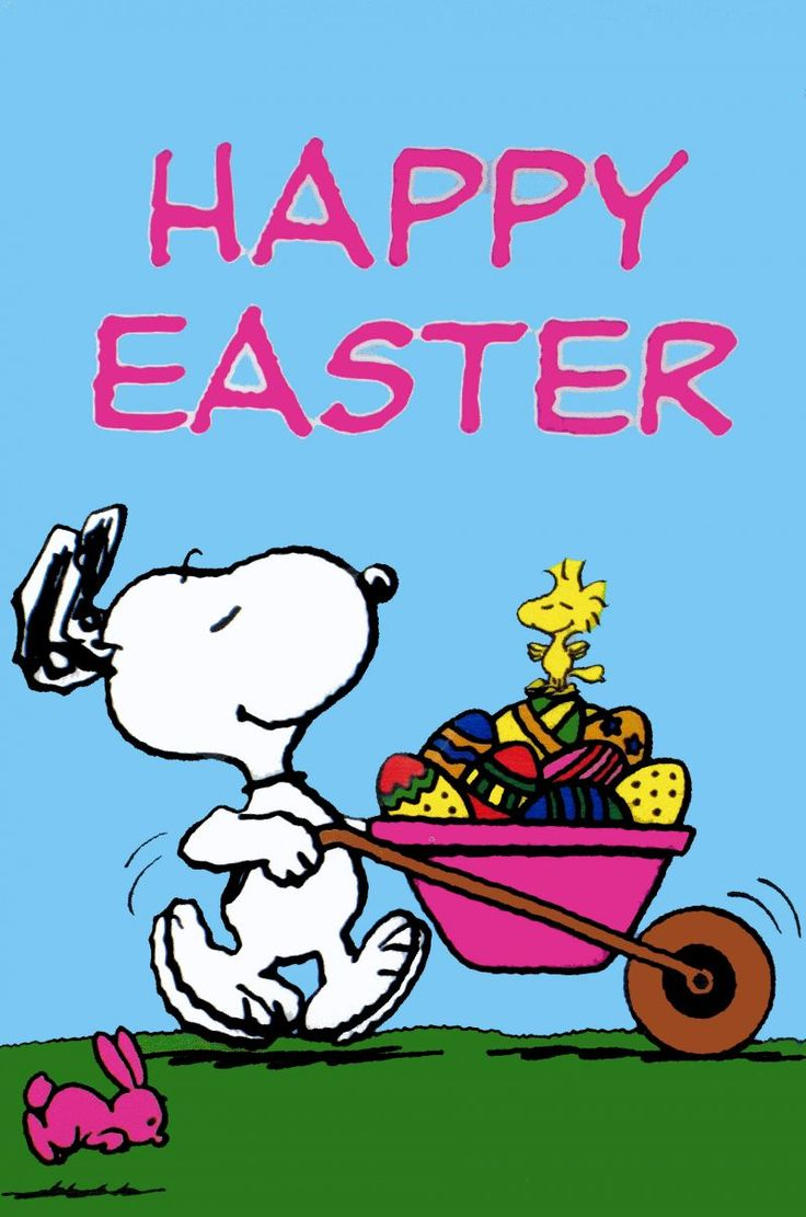 Snoopy and Woodstock Easter