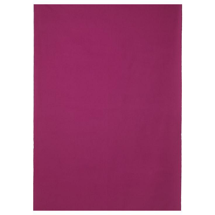 MINNA Kangas - tumma roosa - IKEA. Raskasta, kestävää puuvillaa, joka sopii moniin eri käyttötarkoituksiin. Tämä kävisi vaikka pannulappuihin :)