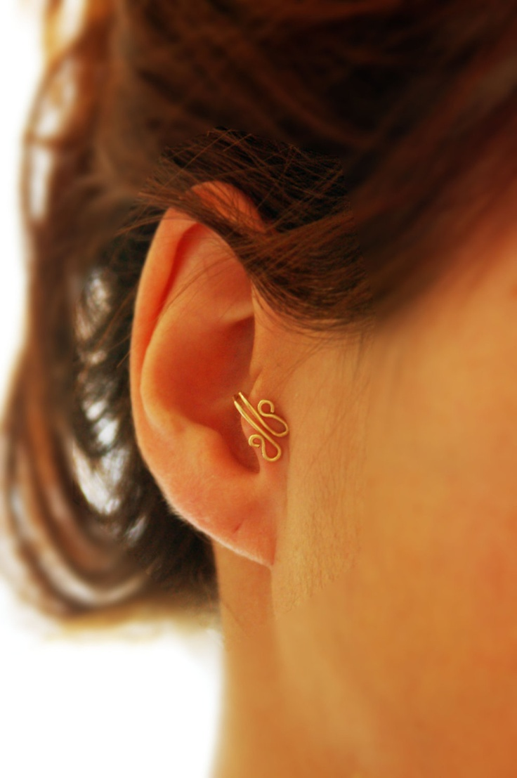 Body Jewelry, Non Pierced Earring, Ear Cuff, 14k Gold Filled Nose Ring,  Tragus, Body Jewelry, Non Pierced Ear, Cartilage, Helix Tragus