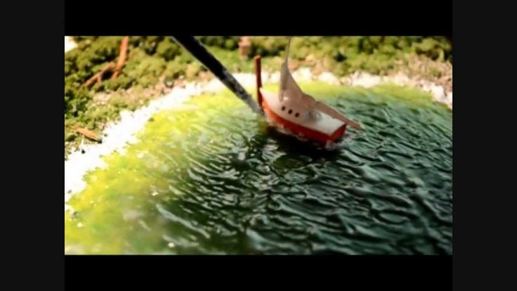 Modeling Water: Mod Podge & Golden Gel Medium