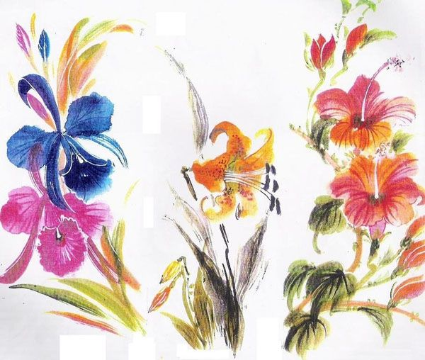 Fabric paintings tips tutorial links designs for Design patterns for pot painting