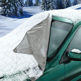 OMG I NEED ONE!!!!!Windshield Snow Cover. Spend less time scraping and defrosting this winter! $14.98