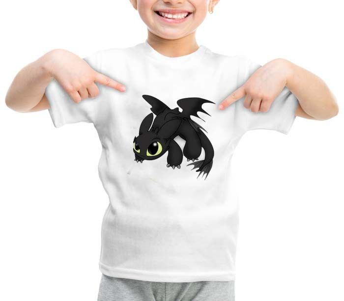 Chibi Toothless How to Train Your Dragon fantasy graphic printed youth toddler…