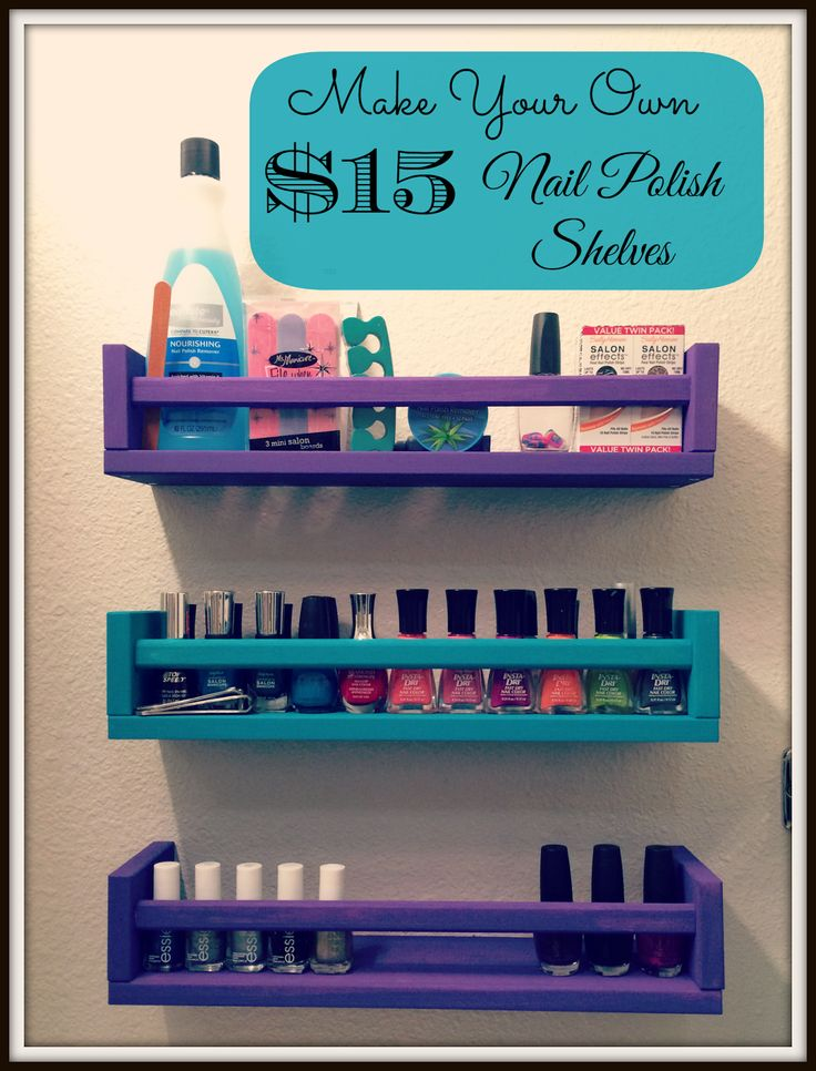 24 best diy nail polish rack images on pinterest diy nails nail diy nail polish storage shelves solutioingenieria Gallery