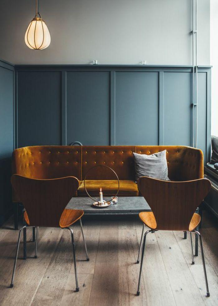 Préférence Les 25 meilleures idées de la catégorie Canapé en velours bleu  PL85