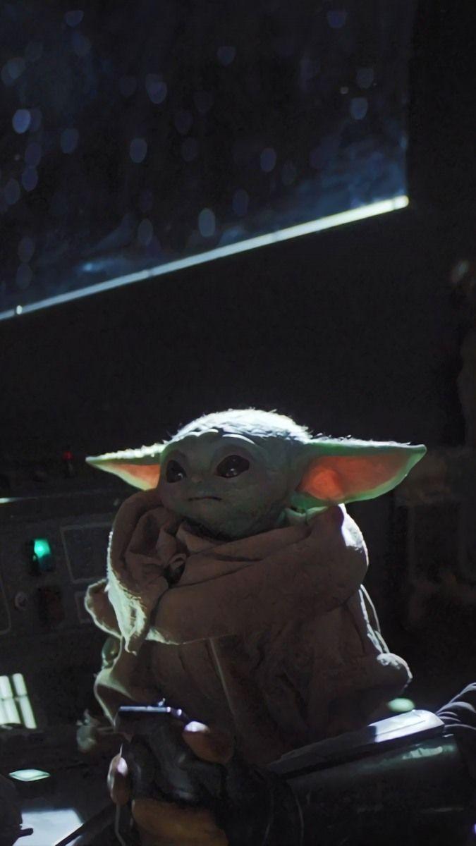 The Mandalorian Baby Yoda In 2020 Yoda Wallpaper Star Wars Wallpaper Star Wars Pictures