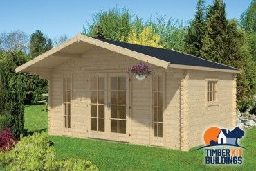 Timber Kit Buildings IE Log Cabin Gustav 500X380+120cm 1