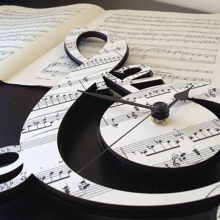 treble clef vintage music clock by neltempo | notonthehighstreet.com