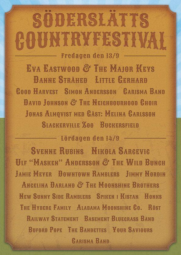 Söderslätts Countryfestival Program 2013