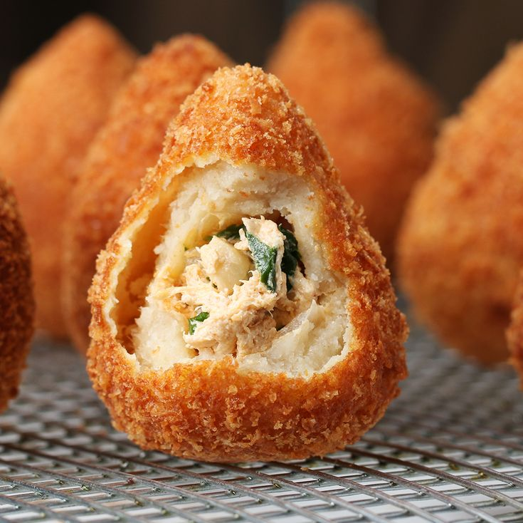 Brazilian Chicken Croquettes (coxinha) Recipe by Tasty