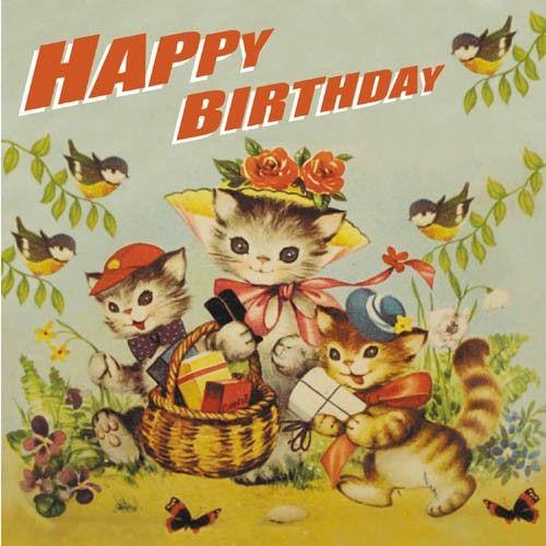 402 best VINTAGE GREETINGS BIRTHDAY images – Vintage Happy Birthday Cards