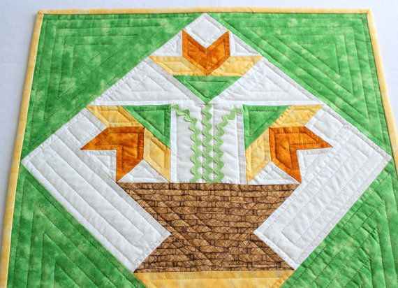 11 best carolina lily quilt block images on pinterest patchwork quilted easter table runner 268808208 this charming easter lily table runner will surely negle Gallery