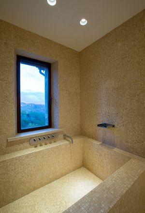 Bath in natural mosaic stone
