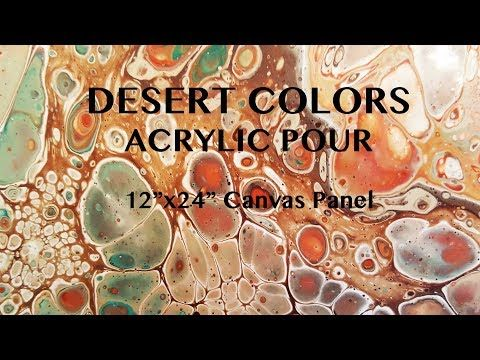 Acrylic Pour- BIG FLUID PEBBLE-LIKE CELLS!!! ~In Beach Colors!!~ - YouTube