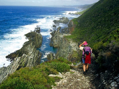 Otter trail, near Stormsriver mouth, Garden Route, South Africa