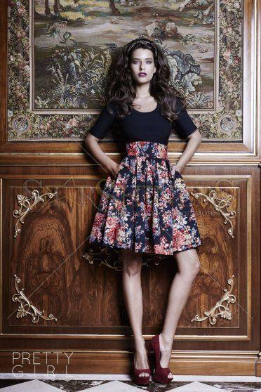PrettyGirl Autumnal Black Skirt