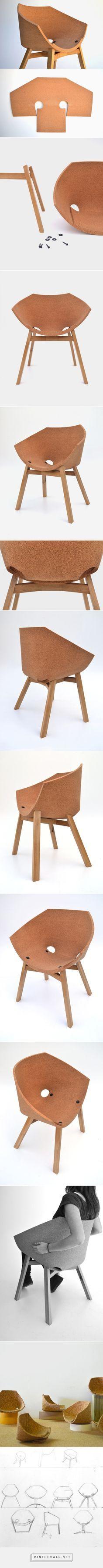 Corkigami Chair by Carlos Ortega Design - Design Milk - created via http://pinthemall.net