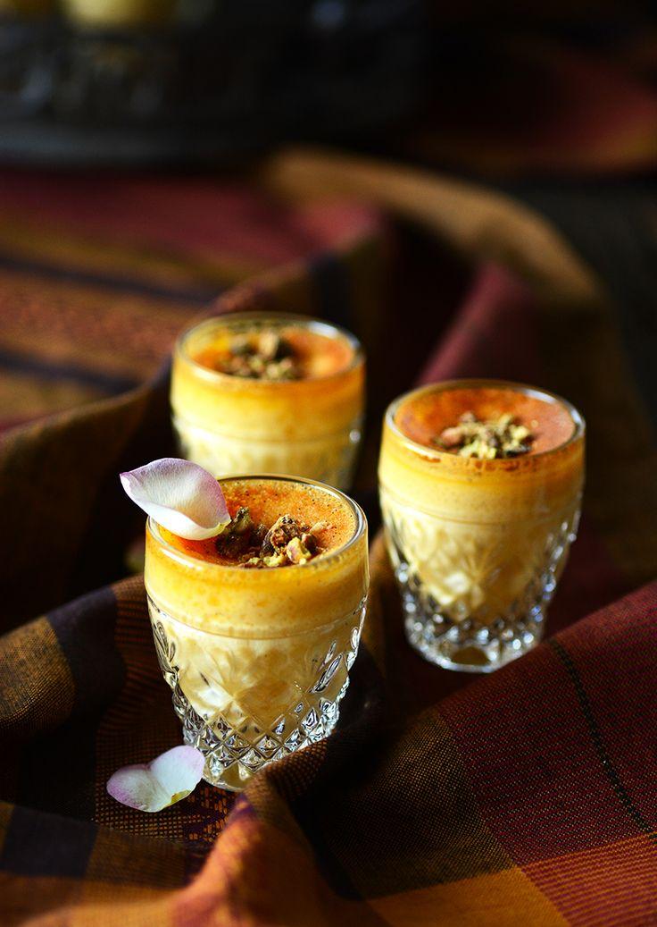 Rose and Saffron Pots De Crème