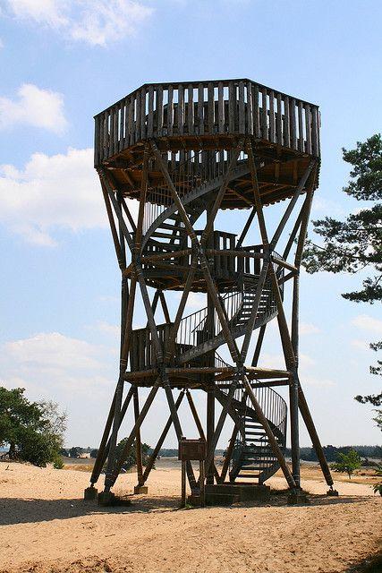 Uitkijktoren, Kootwijkerzand, Kootwijk, Gelderland. The Netherlands