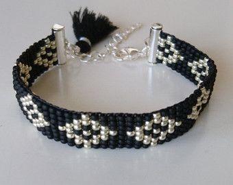 Handgeweven kralenarmbandje/Loom beaded van Suusjabeads op Etsy
