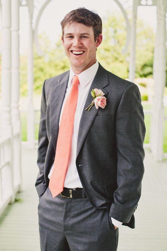 Best 25 Peach tie ideas only on Pinterest Gray tux Grey suit