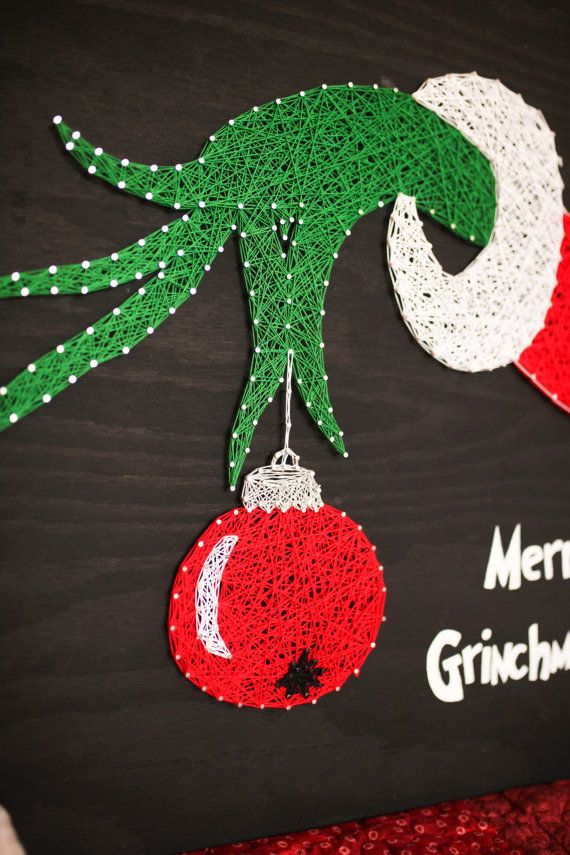 STRING ART Merry Grinchmas The Grinch Who by EveryStringAttached