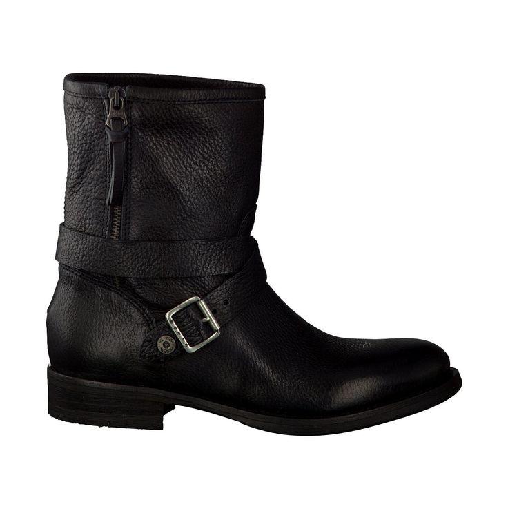 Tommy Hilfiger Biker-Boots aus Leder in Schwarz Biker-Boots 426532 schwarz Leder - Damenschuhe im Online-Shop von GISY Schuhe